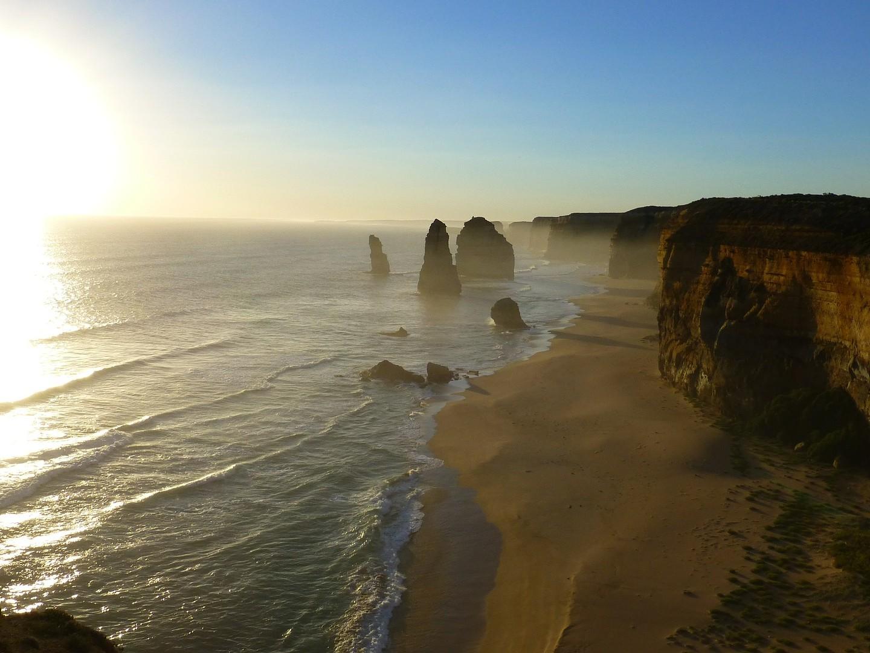 Australie klif zee